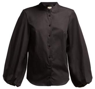 Khaite - Willa Balloon Sleeve Cotton Shirt - Womens - Black