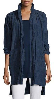 Eileen Fisher Rumpled Kimono Coat, Midnight, Petite $358 thestylecure.com