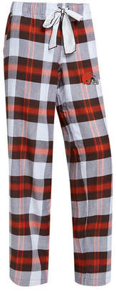 Concepts Sport Women's Cleveland Browns Headway Flannel Pajama Pants