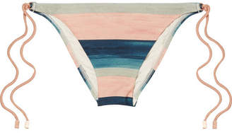 Vix Mani Striped Bikini Briefs - Blush