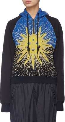 Angel Chen Sun graphic jacquard hoodie