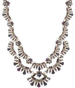 Marchesa Swarovski Crystal Drama Collar Necklace