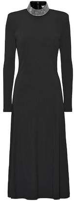 Christopher Kane Embellished stretch knit midi dress
