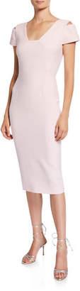 Roland Mouret Minetta Cold-Shoulder Dress