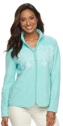 Croft & Barrow Women's Print Microfleece Jacket