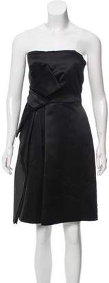 Halston Bow Detailed Satin Dress w/ Tags