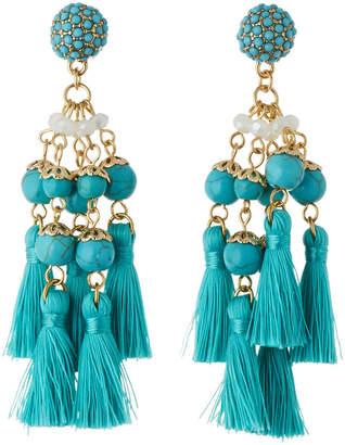 Panacea Multi-Tassel Drop Earrings