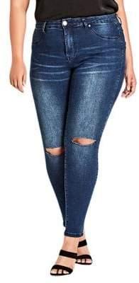 City Chic Plus Skinny Denim Pants