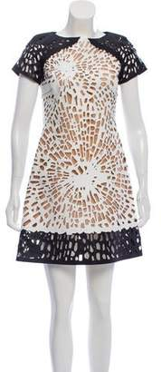 Giles Laser Cut Mini Dress
