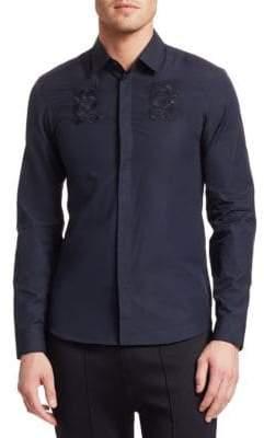 Kenzo Embroidered Dragon Button-Down Shirt