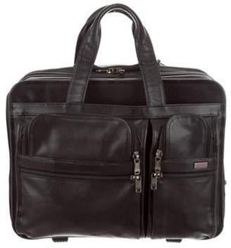 Tumi Leather Expandable Briefcase black Leather Expandable Briefcase