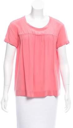 Miu Miu Short Sleeve Silk Top