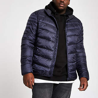 River Island Big and Tall navy puffer jacket