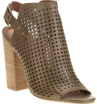 Mo Mo MoMo Women's Donnie Peep Toe Perforated Bootie