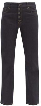 Joseph Den Straight Leg Stretch Denim Jeans - Womens - Dark Blue