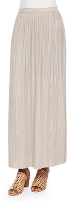 Joan Vass Plus Size Long Pleated Skirt