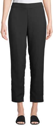 Eileen Fisher Slim Ankle Pants in Wrinkle-Resistant Knit