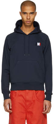 Ami Alexandre Mattiussi SSENSE Exclusive Navy Logo Hoodie