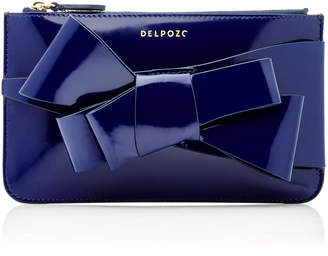 DELPOZO M'O Exclusive Mini Calf Bow Clutch
