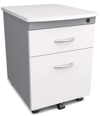OFM Model 55106 Modular Wheeled Mobile 2-Drawer File Cabinet Pedestal, White