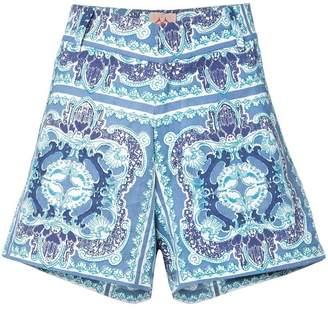 Le Sirenuse printed shorts