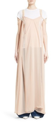 Women's Y/project Mother Of Pearl Embellished Slipdress $1,250 thestylecure.com