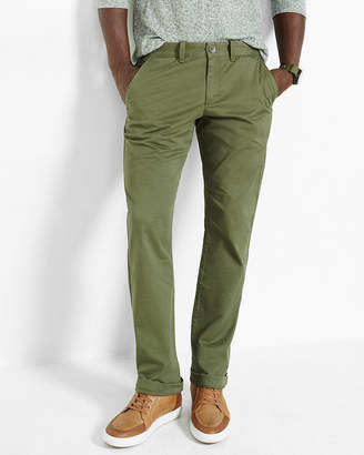 Express Slim Fit Stretch Olive Chino