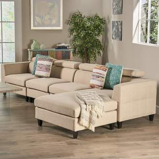 Bronx Ivy Lundberg Modern Extended Deep Seated Chaise Modular Sectional Ivy