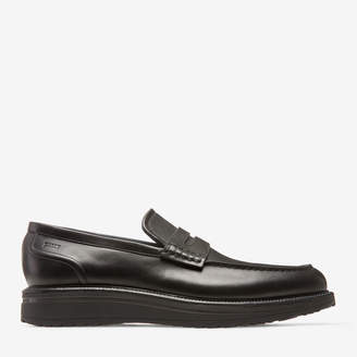 Bally Bardony Black, Men's plain calf leather penny loafer in black