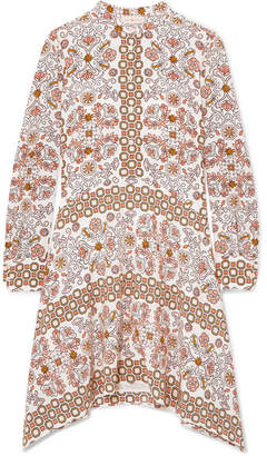 Tory Burch Celeste Printed Silk Mini Dress - Beige