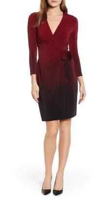 Anne Klein Camille Dot Faux Wrap Dress