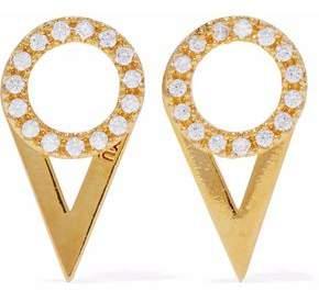 Astrid & Miyu Fitzgerald Gold-Plated Crystal Earrings