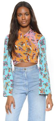 BCBGMAXAZRIA Cam Kimono Wrap Blouse $368 thestylecure.com