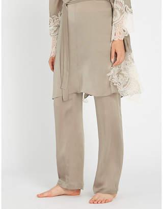 Carine Gilson Straight silk-crepe de chine pyjama bottoms