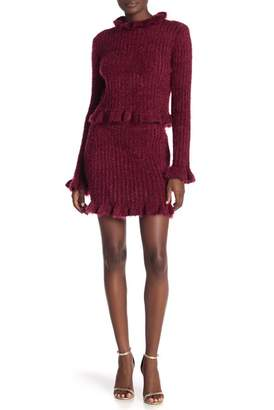 Very J Fuzzy Knit Peplum Skirt