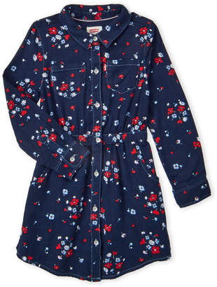Levi's Girls 4-6x) Navy Floral Shirtdress