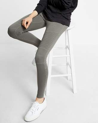 Express Garment Dyed Pull-On Moto Leggings