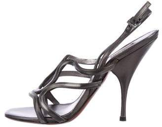 Alaia Chain-Link Slingback Sandals