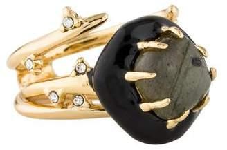 Alexis Bittar Labradorite Multi Spike Interlocking Ring Set