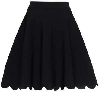 Alexander McQueen Scalloped hem mini skirt