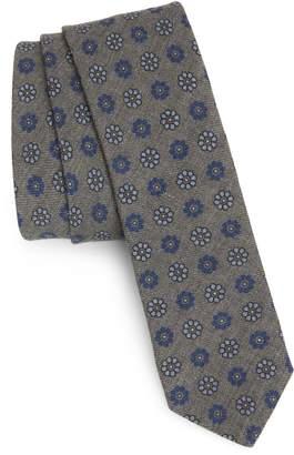 Eleventy Floral Wool Tie