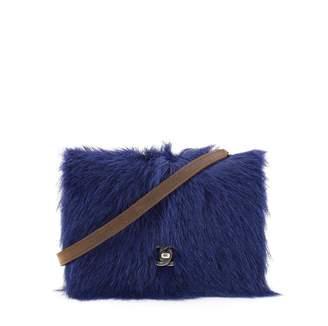 Chanel Blue Leather Handbag