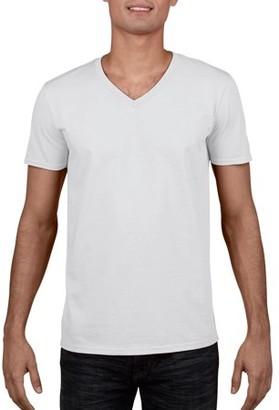 Gildan Mens Fitted V-Neck Short Sleeve T-Shirt