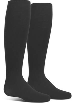 Ralph Lauren Girls' Microfiber Black Tights, 2 Pack - Baby