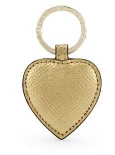 Smythson Women s Panama Leather Heart Keyring - Blue 2a63eb320d
