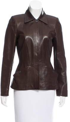 Thierry Mugler Fitted Leather Jacket