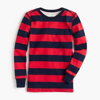 J.Crew Kids' pajama set in red stripes