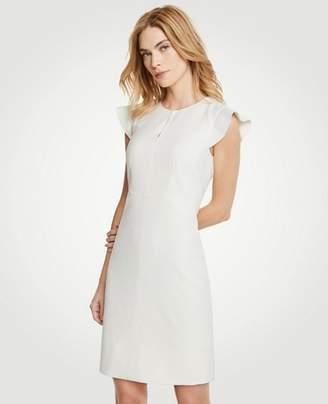 Ann Taylor Petite Flutter Sheath Dress