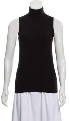 Donna Karan Sleeveless Cashmere-Blend Sweater Black Sleeveless Cashmere-Blend Sweater