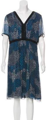 Burberry Silk Printed Dress
